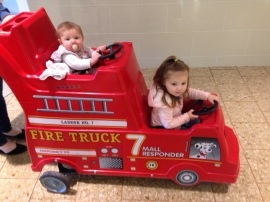 Hanging out at the mall with family while raising money!