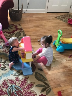 The girls playing together!