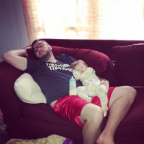 Daddy and Jacqueline worn out