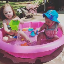 The girls in the baby pool