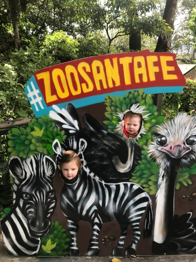 Family trip to the zoo in Medellin