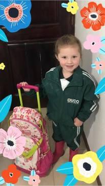Bella ready for school